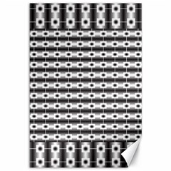 Pattern Background Texture Black Canvas 12  x 18