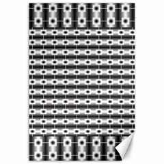 Pattern Background Texture Black Canvas 24  x 36