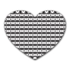 Pattern Background Texture Black Heart Mousepads