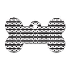 Pattern Background Texture Black Dog Tag Bone (One Side)