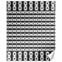 Pattern Background Texture Black Canvas 11  x 14