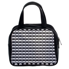 Pattern Background Texture Black Classic Handbags (2 Sides)