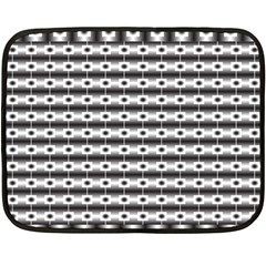 Pattern Background Texture Black Double Sided Fleece Blanket (Mini)