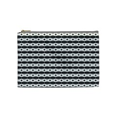 Pattern Background Texture Black Cosmetic Bag (Medium)