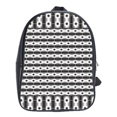 Pattern Background Texture Black School Bags(Large)
