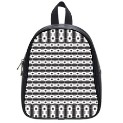 Pattern Background Texture Black School Bags (small)  by Nexatart