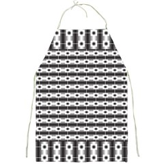 Pattern Background Texture Black Full Print Aprons