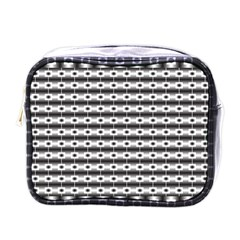 Pattern Background Texture Black Mini Toiletries Bags