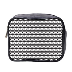 Pattern Background Texture Black Mini Toiletries Bag 2-Side