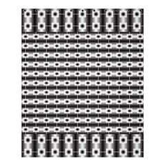 Pattern Background Texture Black Shower Curtain 60  x 72  (Medium)