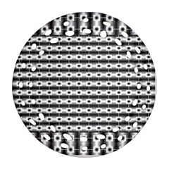 Pattern Background Texture Black Ornament (Round Filigree)