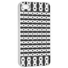 Pattern Background Texture Black Apple iPhone 4/4s Seamless Case (White)
