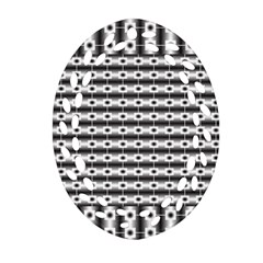 Pattern Background Texture Black Oval Filigree Ornament (Two Sides)
