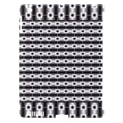 Pattern Background Texture Black Apple iPad 3/4 Hardshell Case (Compatible with Smart Cover)