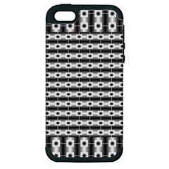 Pattern Background Texture Black Apple iPhone 5 Hardshell Case (PC+Silicone)