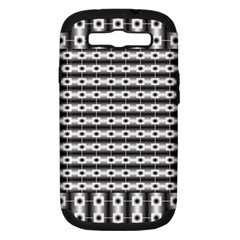 Pattern Background Texture Black Samsung Galaxy S III Hardshell Case (PC+Silicone)