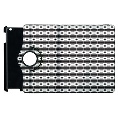 Pattern Background Texture Black Apple iPad 2 Flip 360 Case