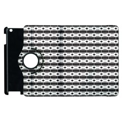 Pattern Background Texture Black Apple iPad 3/4 Flip 360 Case