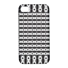 Pattern Background Texture Black Apple Iphone 4/4s Hardshell Case With Stand