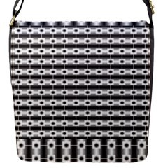 Pattern Background Texture Black Flap Messenger Bag (S)
