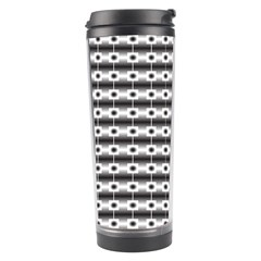 Pattern Background Texture Black Travel Tumbler