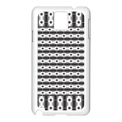 Pattern Background Texture Black Samsung Galaxy Note 3 N9005 Case (White)