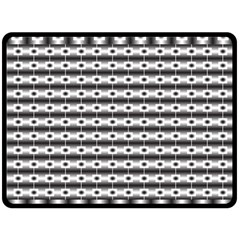 Pattern Background Texture Black Double Sided Fleece Blanket (Large)