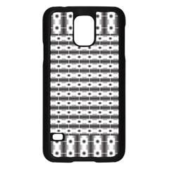 Pattern Background Texture Black Samsung Galaxy S5 Case (Black)