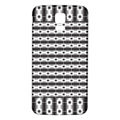 Pattern Background Texture Black Samsung Galaxy S5 Back Case (White)