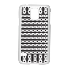 Pattern Background Texture Black Samsung Galaxy S5 Case (White)