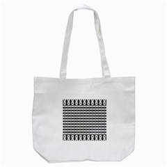 Pattern Background Texture Black Tote Bag (White)