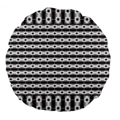 Pattern Background Texture Black Large 18  Premium Flano Round Cushions