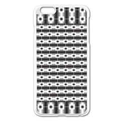 Pattern Background Texture Black Apple iPhone 6 Plus/6S Plus Enamel White Case