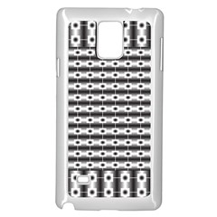 Pattern Background Texture Black Samsung Galaxy Note 4 Case (White)