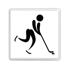 Ice Hockey Pictogram Memory Card Reader (square)  by abbeyz71
