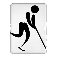 Ice Hockey Pictogram Samsung Galaxy Tab 4 (10 1 ) Hardshell Case  by abbeyz71