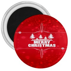 Red Bokeh Christmas Background 3  Magnets by Nexatart