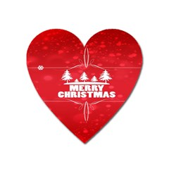 Red Bokeh Christmas Background Heart Magnet by Nexatart