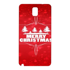 Red Bokeh Christmas Background Samsung Galaxy Note 3 N9005 Hardshell Back Case