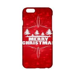 Red Bokeh Christmas Background Apple Iphone 6/6s Hardshell Case by Nexatart