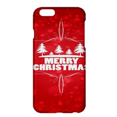 Red Bokeh Christmas Background Apple Iphone 6 Plus/6s Plus Hardshell Case by Nexatart