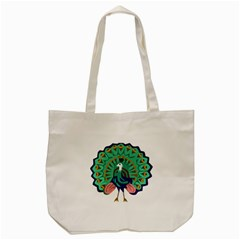 Burma Green Peacock National Symbol  Tote Bag (cream) by abbeyz71