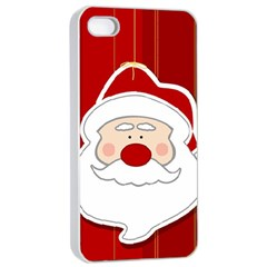 Santa Claus Xmas Christmas Apple Iphone 4/4s Seamless Case (white) by Nexatart