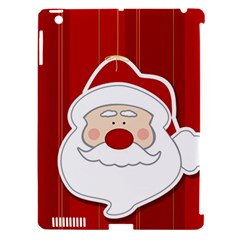 Santa Claus Xmas Christmas Apple Ipad 3/4 Hardshell Case (compatible With Smart Cover) by Nexatart