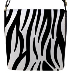 Seamless Zebra Pattern Flap Messenger Bag (s)