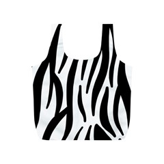 Seamless Zebra Pattern Full Print Recycle Bags (s)