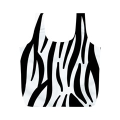 Seamless Zebra Pattern Full Print Recycle Bags (m)