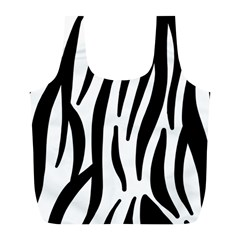 Seamless Zebra Pattern Full Print Recycle Bags (l)