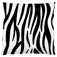 Seamless Zebra Pattern Large Flano Cushion Case (one Side)