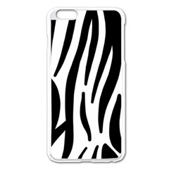 Seamless Zebra Pattern Apple Iphone 6 Plus/6s Plus Enamel White Case by Nexatart
